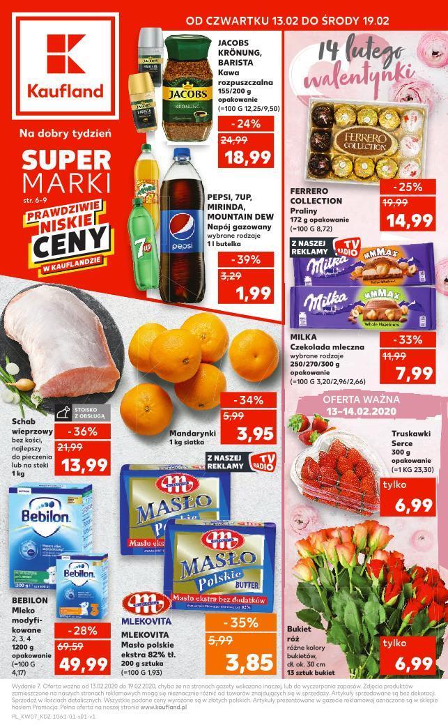 Gazetka promocyjna Kaufland do 19/02/2020 str.1