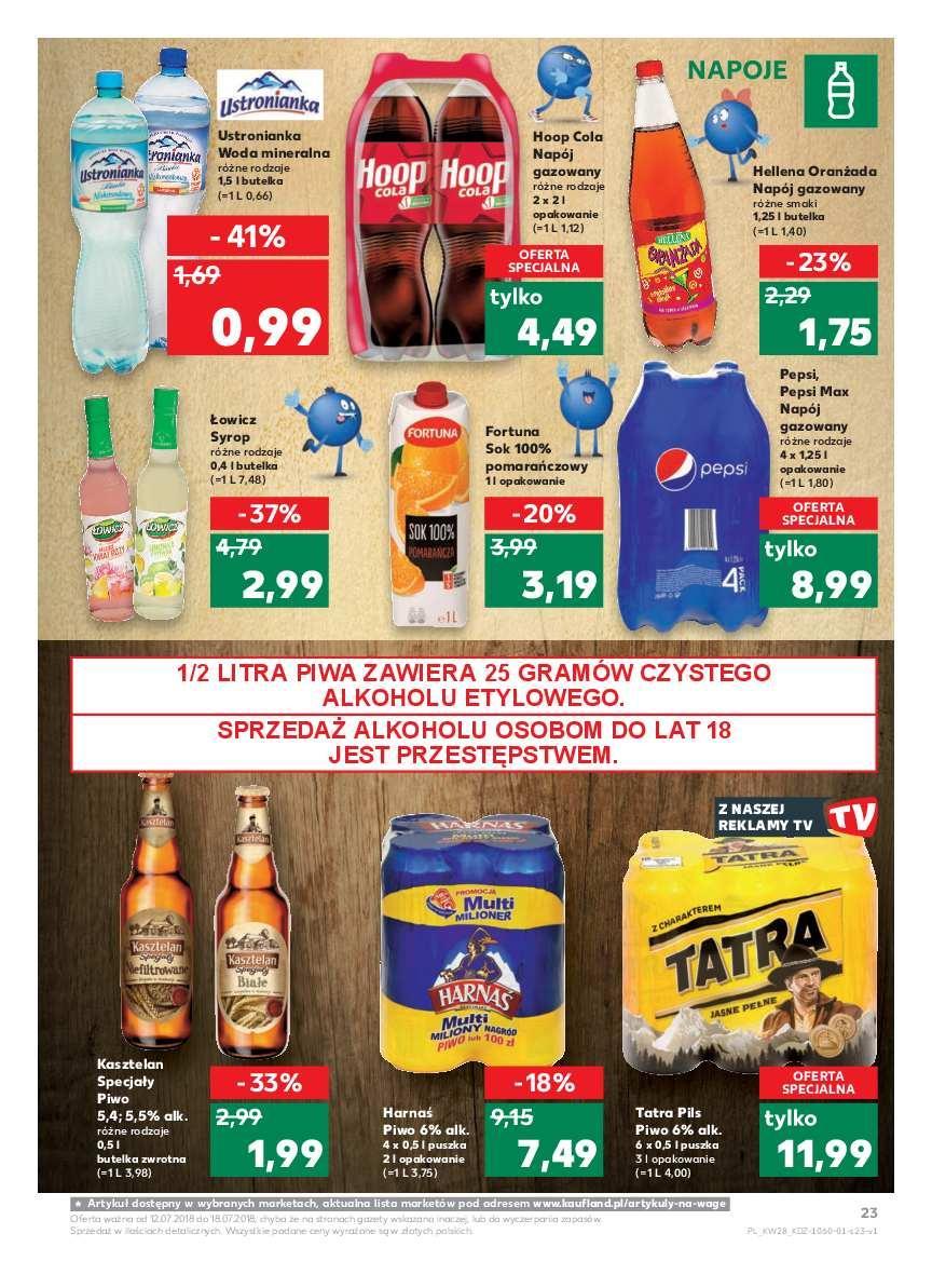 Gazetka promocyjna Kaufland do 18/07/2018 str.23