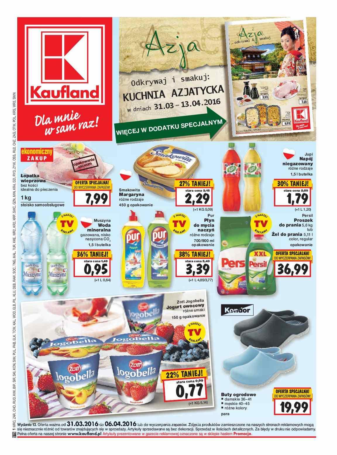 Gazetka Promocyjna I Reklamowa Kaufland Od 31032016 Do 06042016