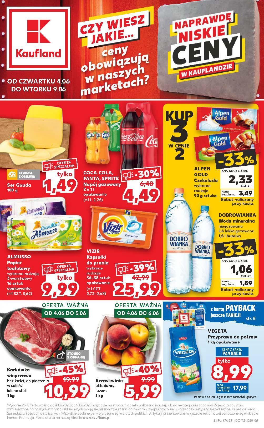 Gazetka promocyjna Kaufland do 10/06/2020 str.1