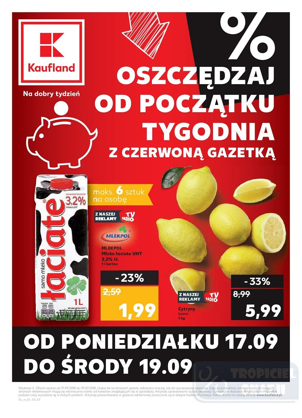 Gazetka promocyjna Kaufland do 19/09/2018 str.0