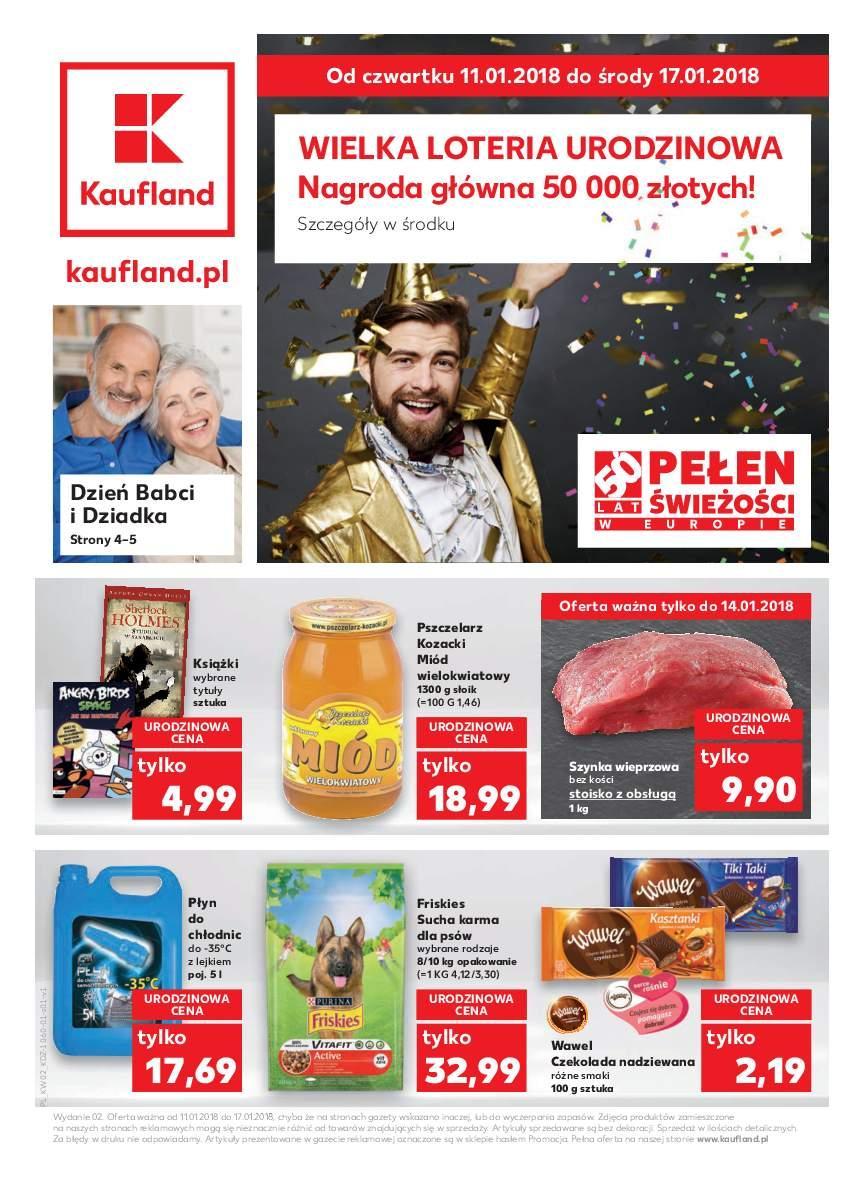 Gazetka promocyjna Kaufland do 17/01/2018 str.1