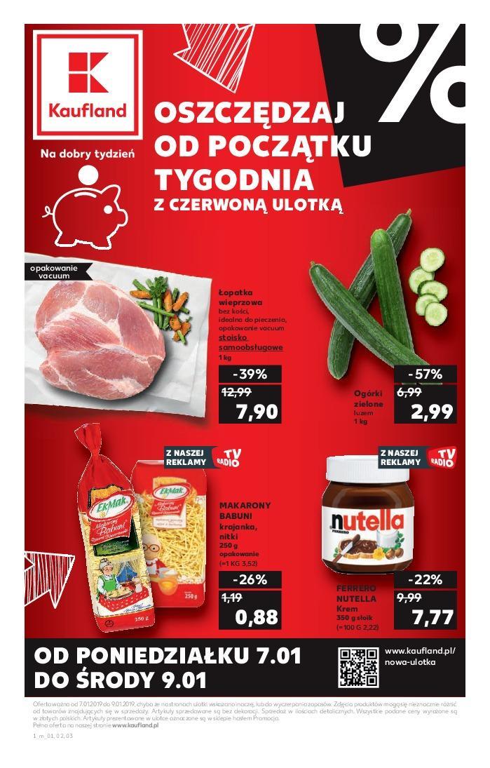 Gazetka promocyjna Kaufland do 09/01/2019 str.0