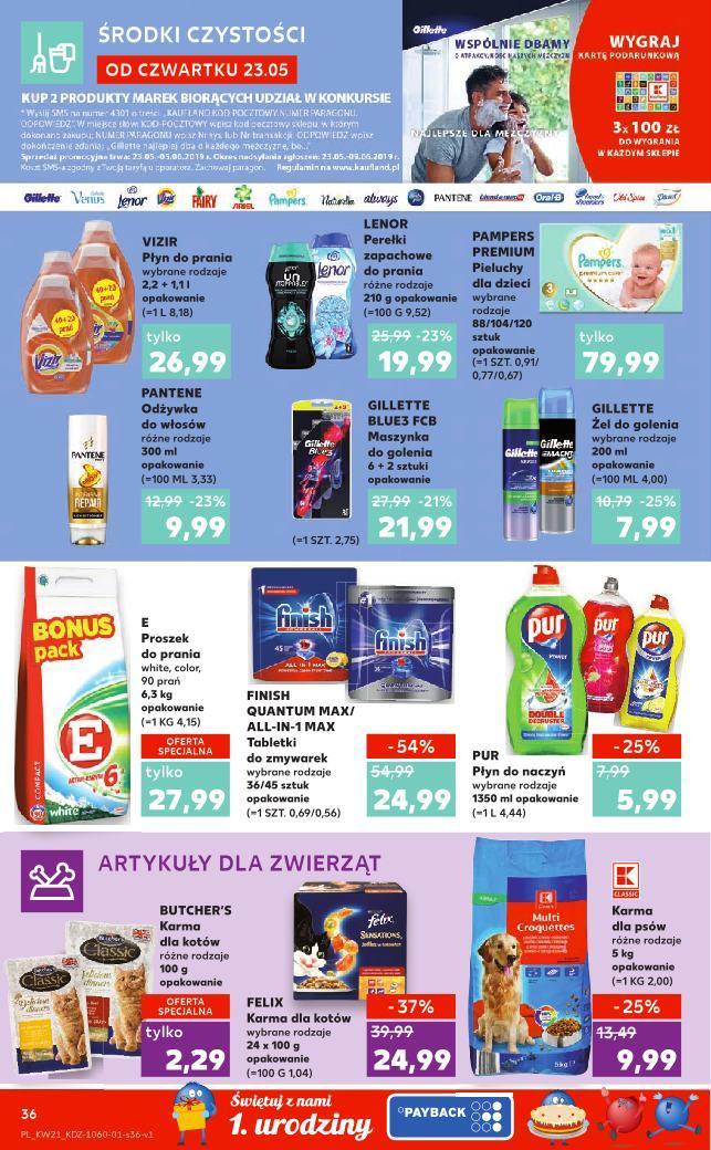 Gazetka promocyjna Kaufland do 29/05/2019 str.36