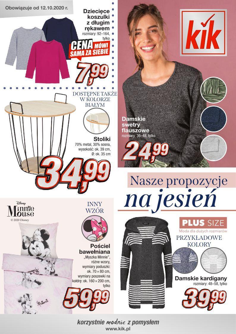 Gazetka promocyjna KiK do 15/11/2020 str.1