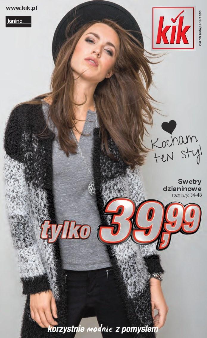 Gazetka promocyjna KiK do 29/11/2016 str.0