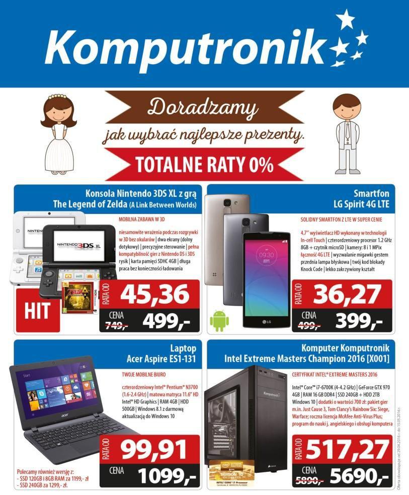 Gazetka promocyjna Komputronik do 31/05/2016 str.1