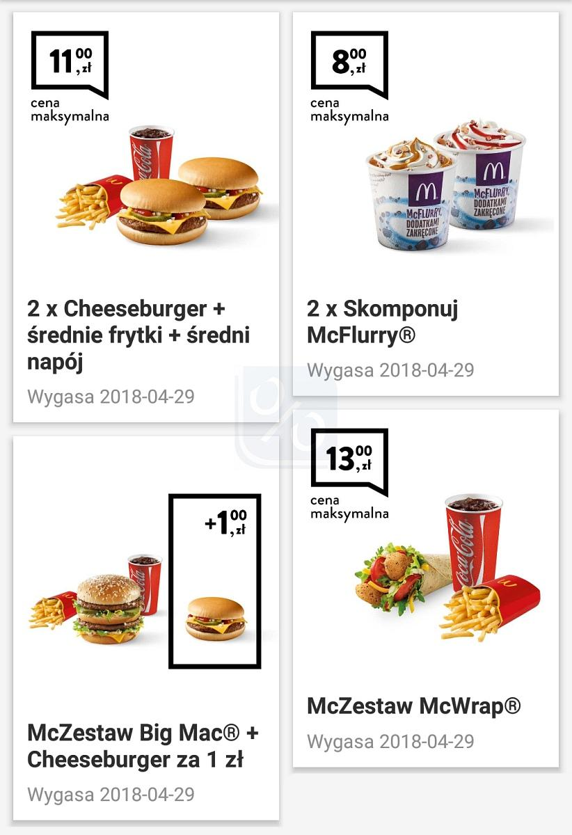 Gazetka promocyjna McDonalds do 29/04/2018 str.0