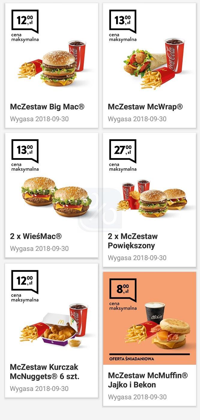 Gazetka promocyjna McDonalds do 30/09/2018 str.1