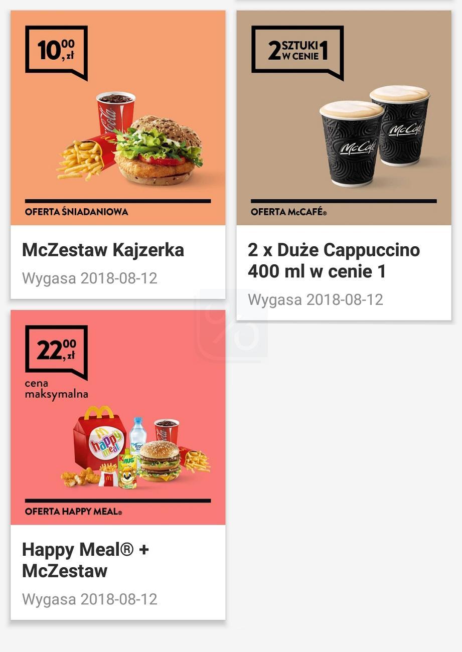 Gazetka promocyjna McDonalds do 12/08/2018 str.1