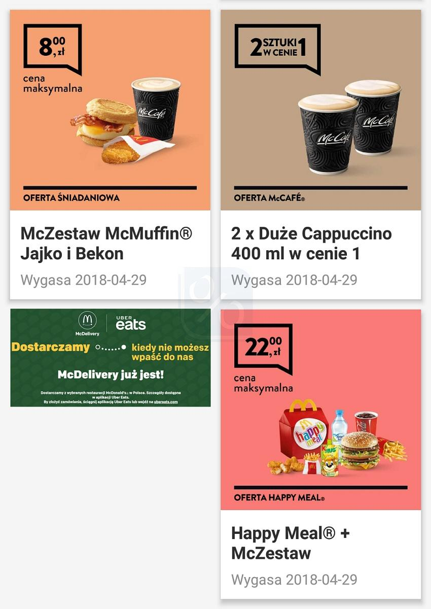 Gazetka promocyjna McDonalds do 29/04/2018 str.1