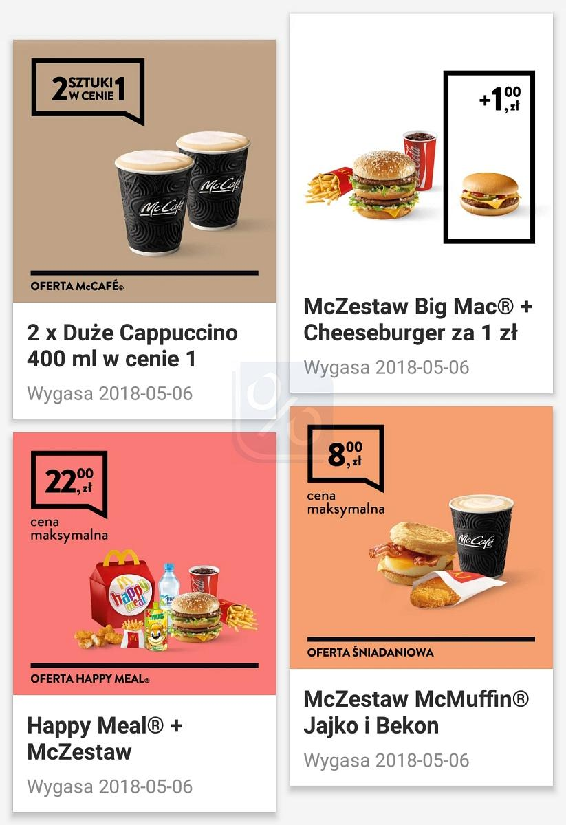 Gazetka promocyjna McDonalds do 06/05/2018 str.1