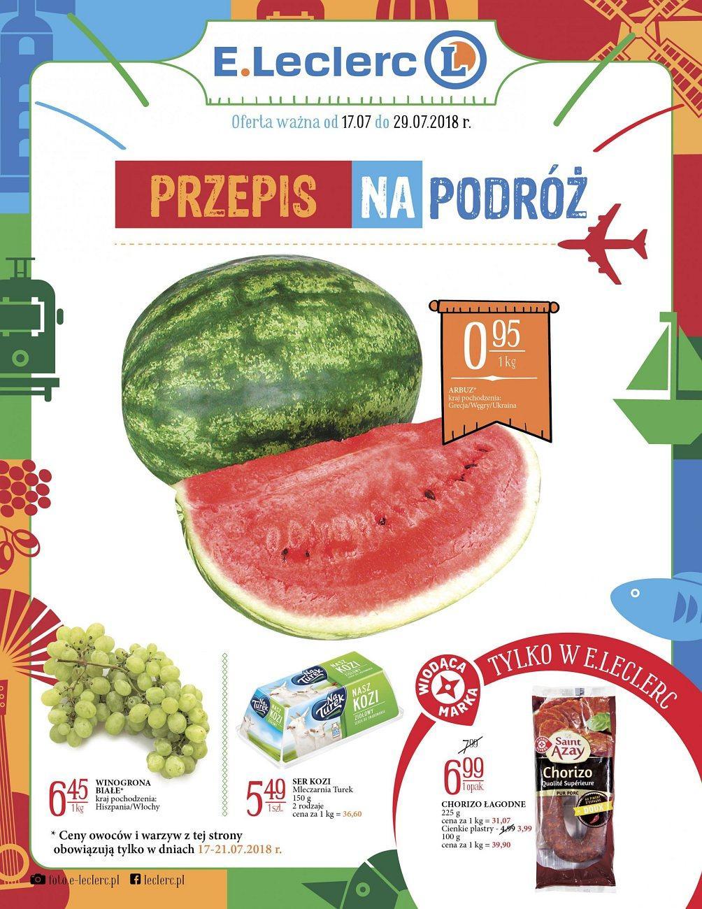 Gazetka promocyjna E.Leclerc do 29/07/2018 str.0