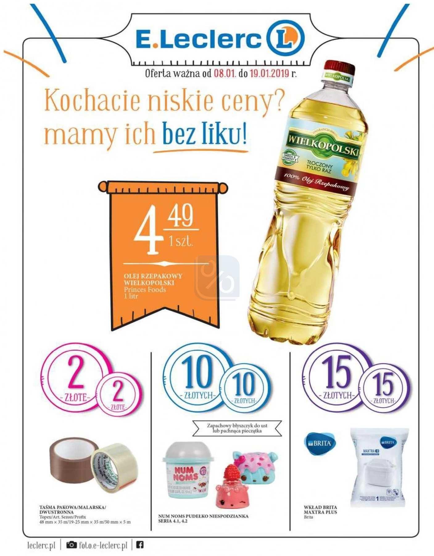 Gazetka promocyjna E.Leclerc do 19/01/2019 str.1