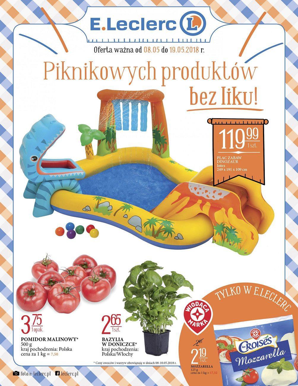 Gazetka promocyjna E.Leclerc do 19/05/2018 str.0