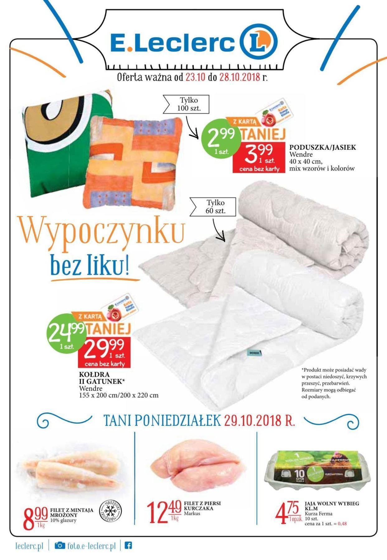 Gazetka promocyjna E.Leclerc do 28/10/2018 str.0