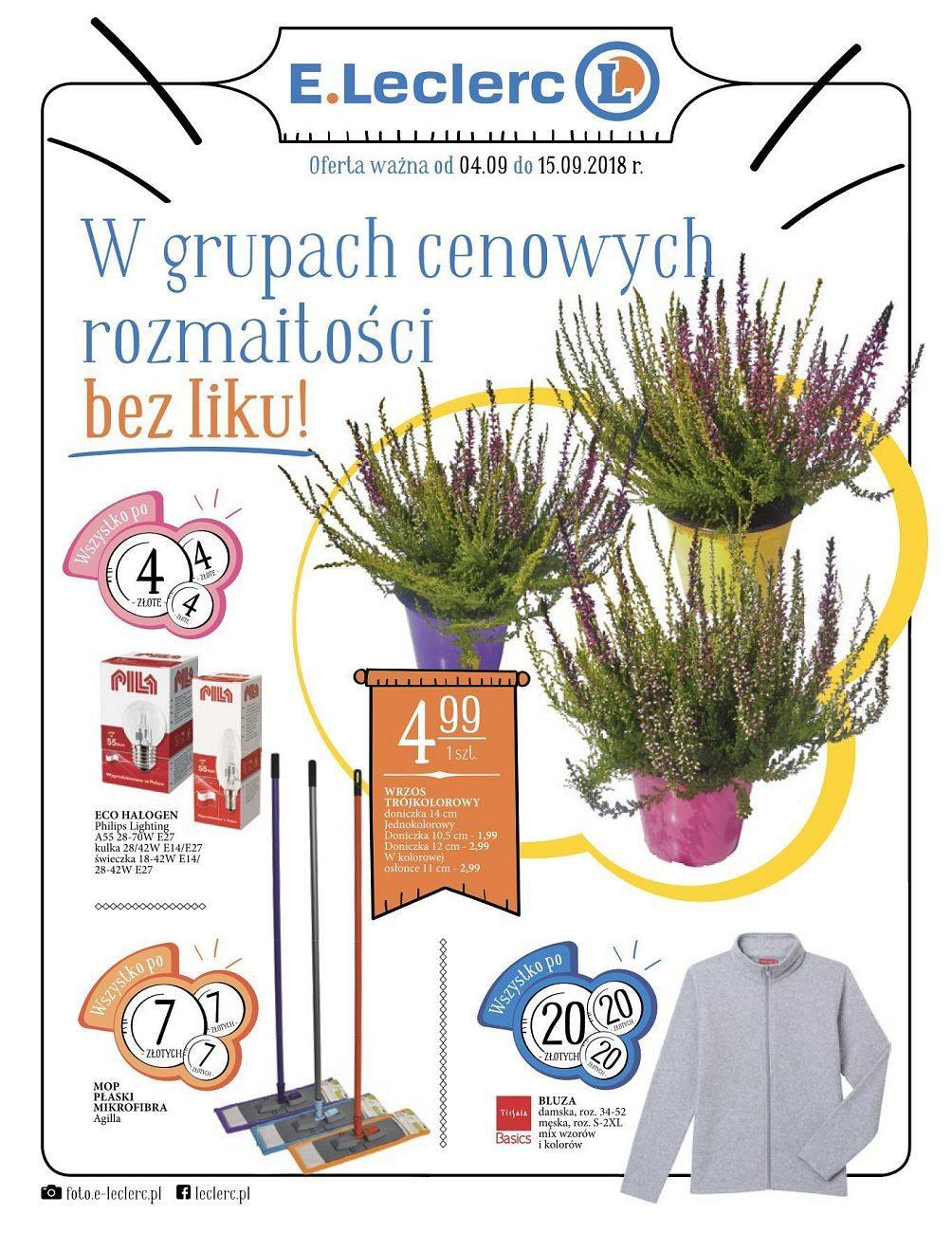 Gazetka promocyjna E.Leclerc do 15/09/2018 str.0