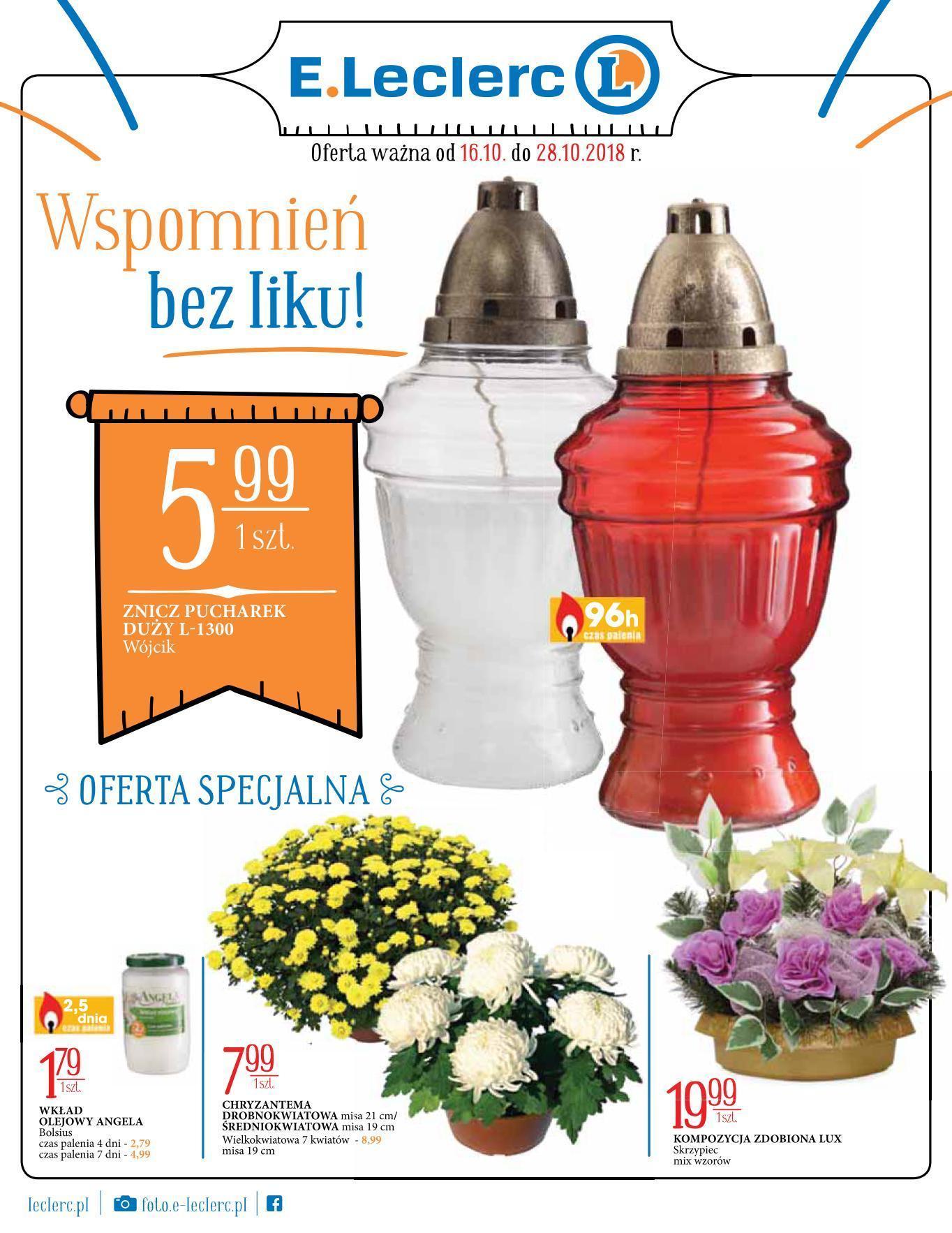 Gazetka promocyjna E.Leclerc do 28/10/2018 str.1
