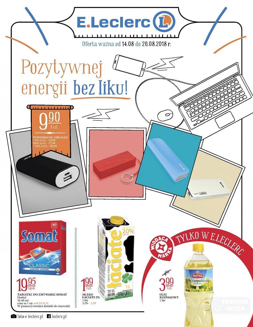 Gazetka promocyjna E.Leclerc do 26/08/2018 str.1