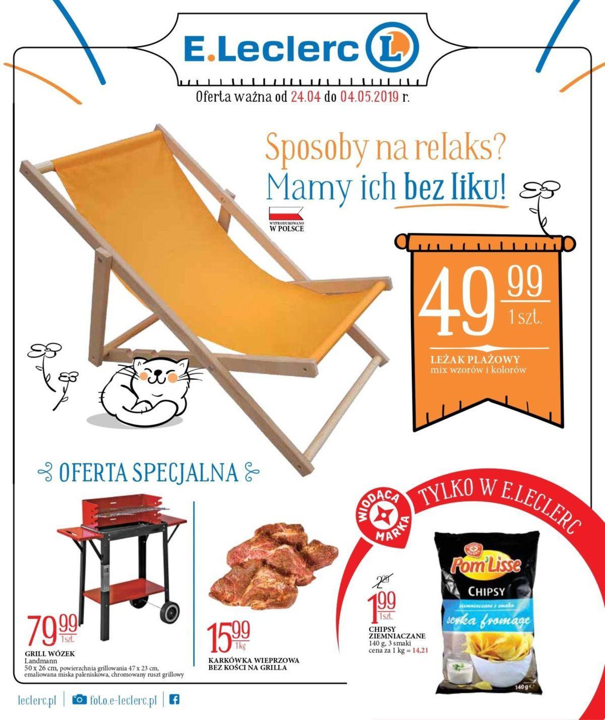 Gazetka promocyjna E.Leclerc do 04/05/2019 str.1