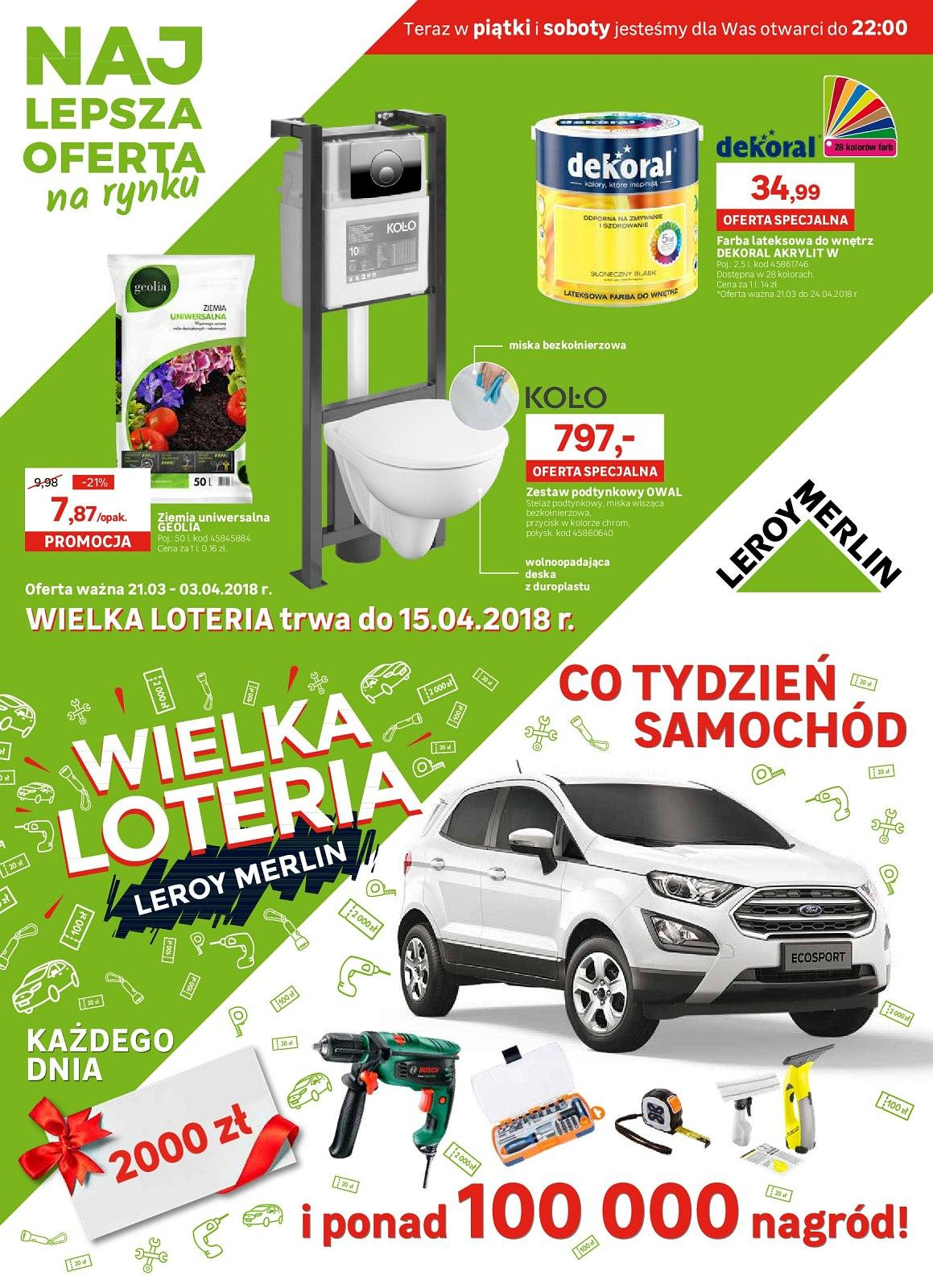Gazetka promocyjna Leroy Merlin do 03/04/2018 str.0