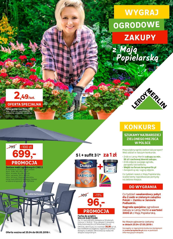 Gazetka promocyjna Leroy Merlin do 08/05/2018 str.0