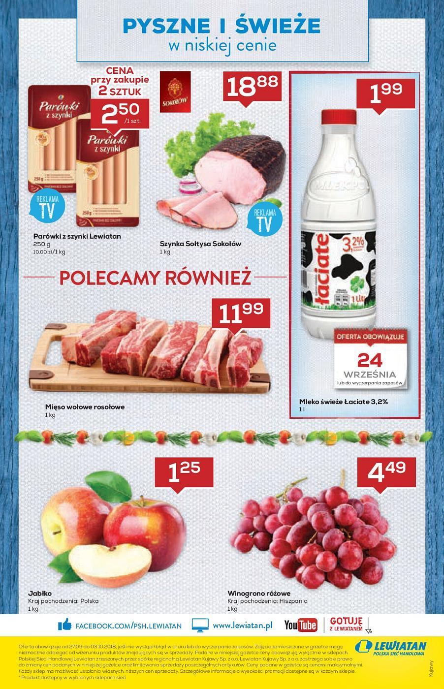 Gazetka promocyjna Lewiatan do 03/10/2018 str.7