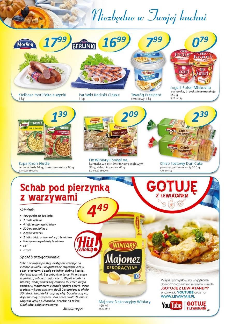 Gazetka promocyjna Lewiatan do 01/11/2017 str.1