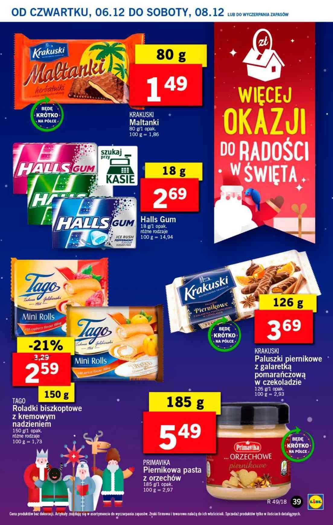 Gazetka promocyjna Lidl do 08/12/2018 str.39