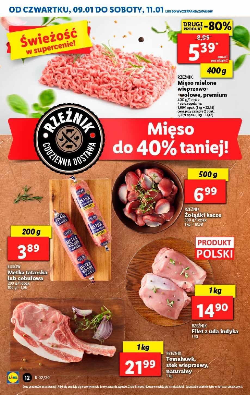 Gazetka promocyjna Lidl do 11/01/2020 str.12