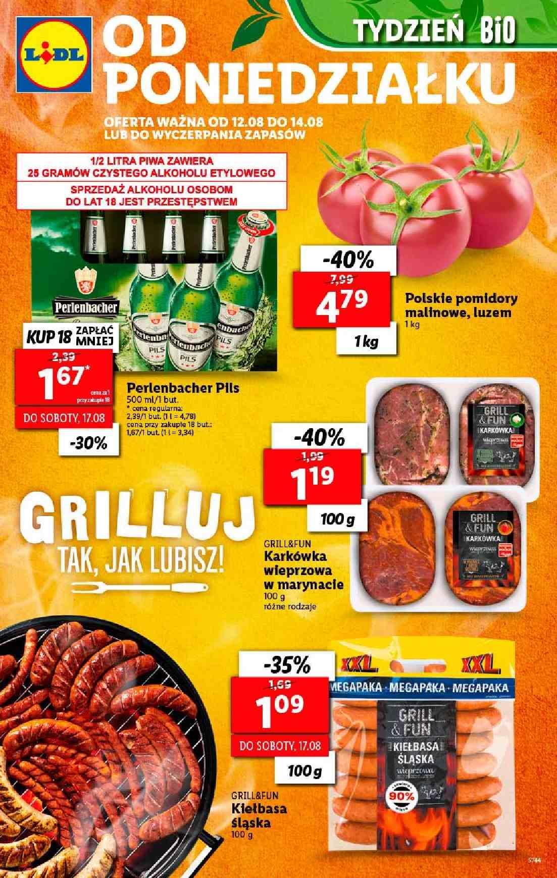 Gazetka promocyjna Lidl do 14/08/2019 str.1