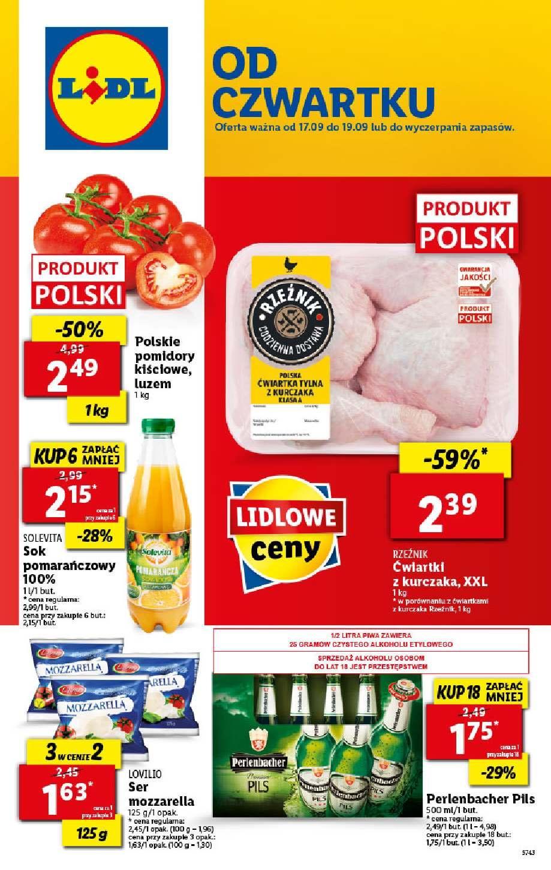 Gazetka promocyjna Lidl do 19/09/2020 str.1