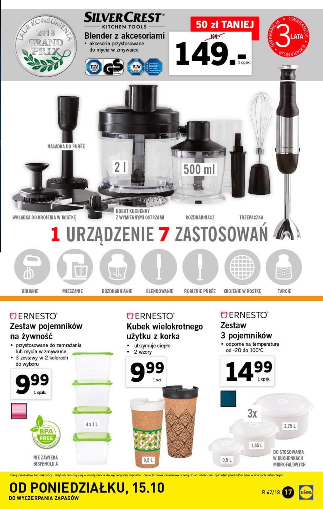 Gazetka promocyjna Lidl do 20/10/2018 str.17