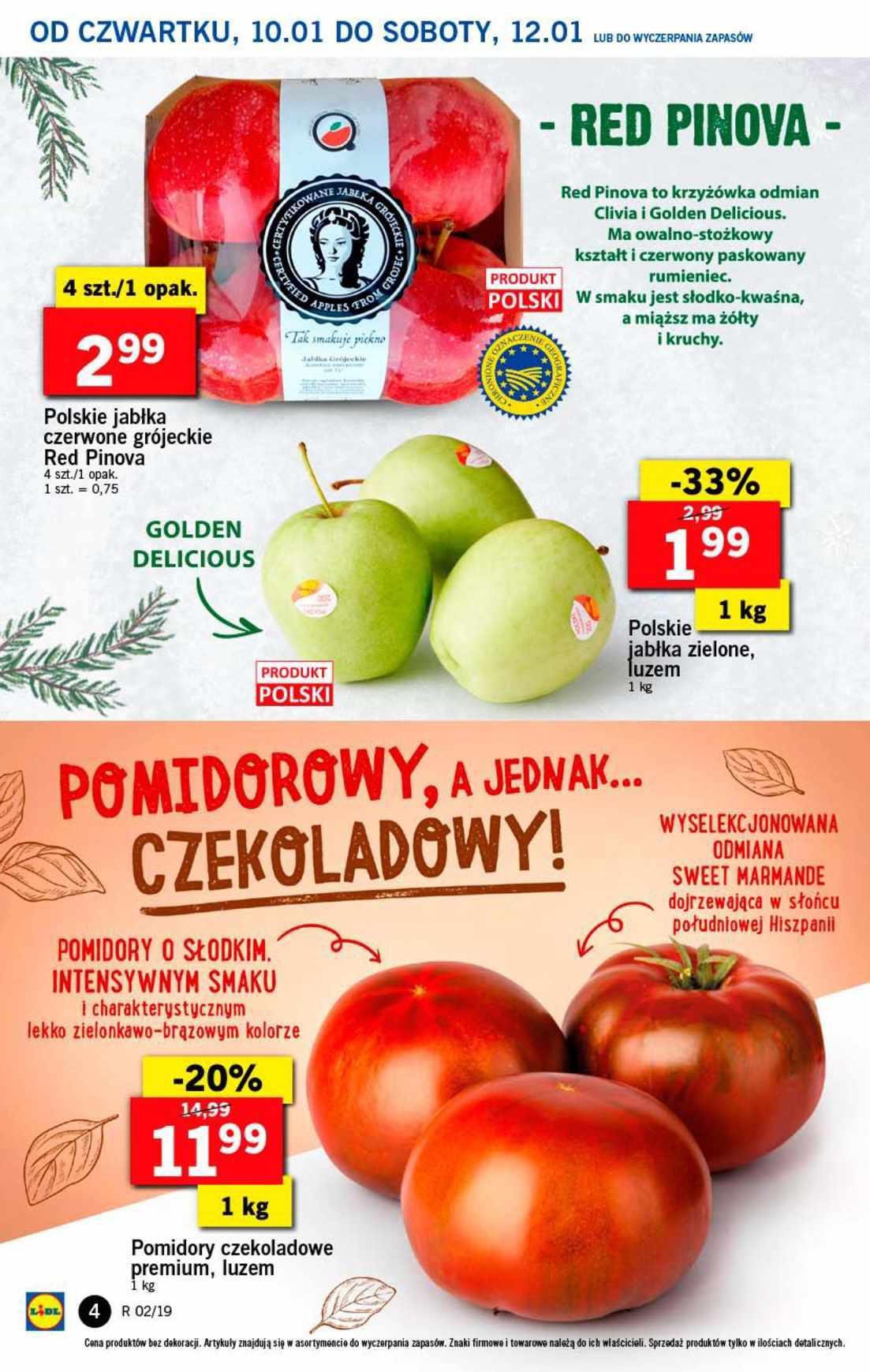 Gazetka promocyjna Lidl do 12/01/2019 str.4