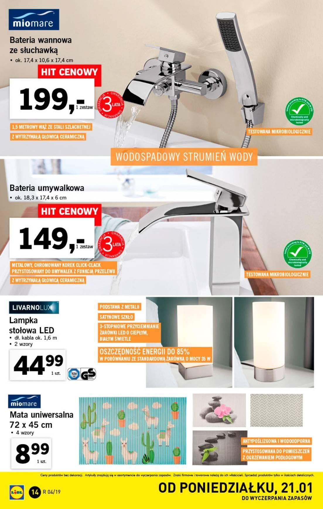 Gazetka promocyjna Lidl do 27/01/2019 str.14