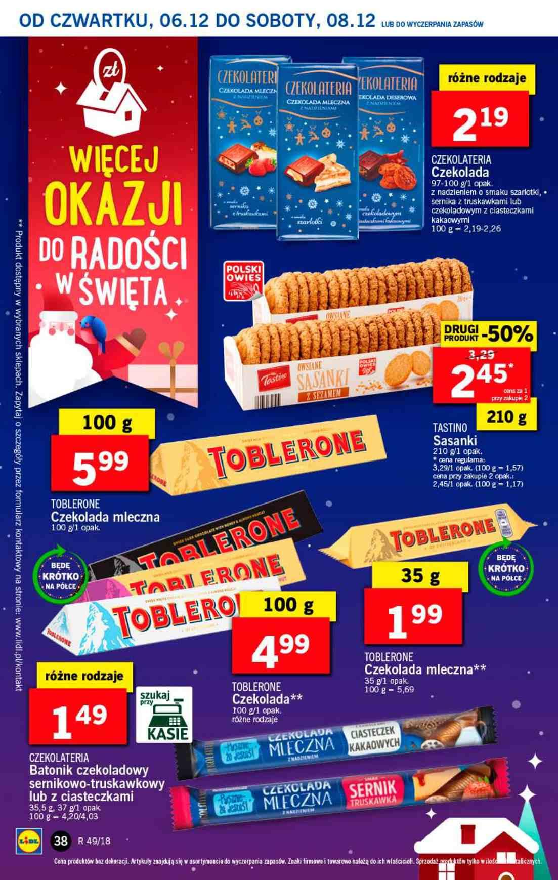 Gazetka promocyjna Lidl do 08/12/2018 str.38