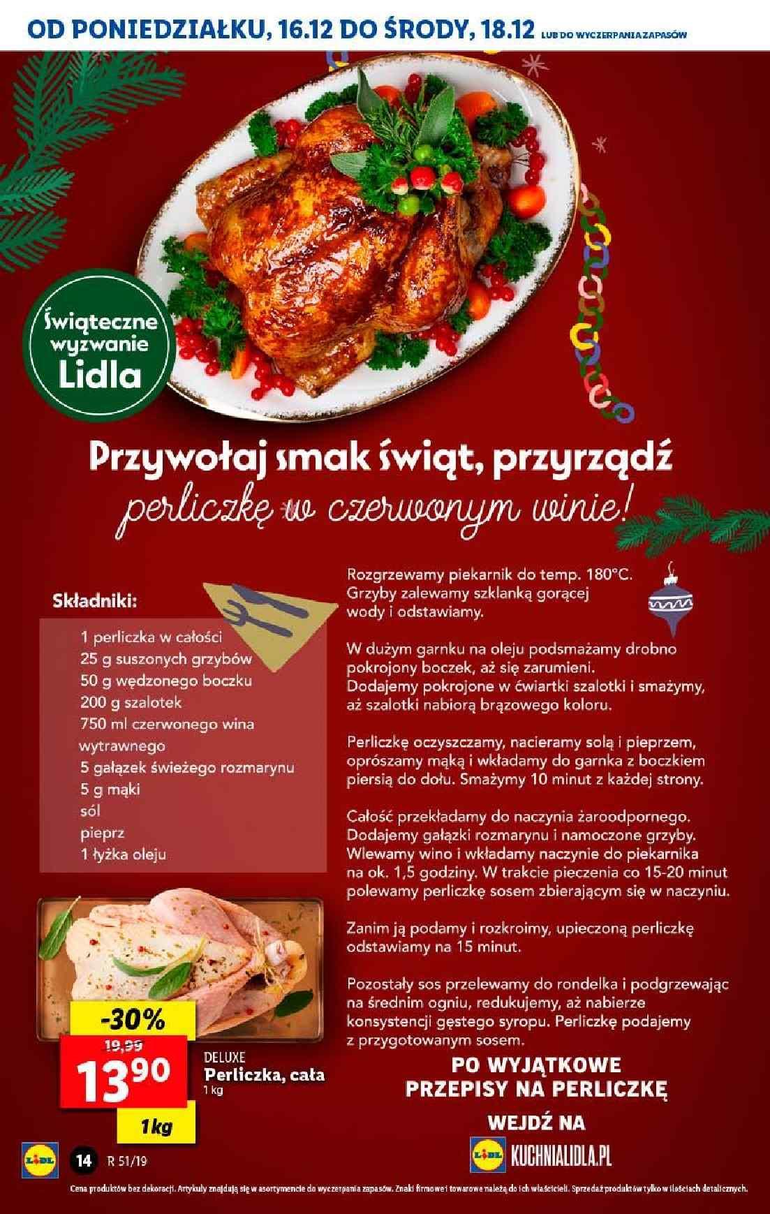 Gazetka promocyjna Lidl do 18/12/2019 str.14