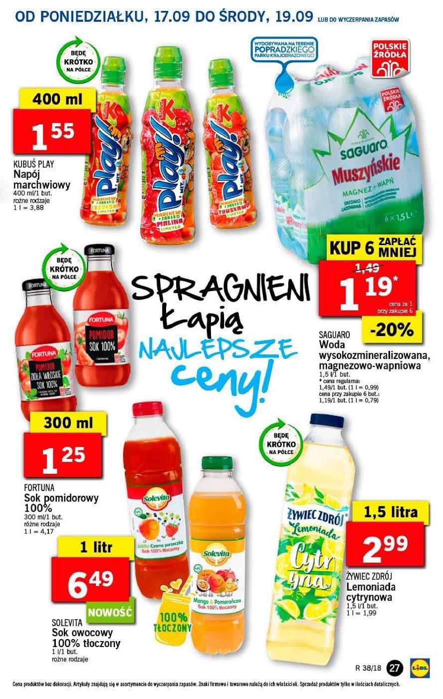 Gazetka promocyjna Lidl do 19/09/2018 str.27