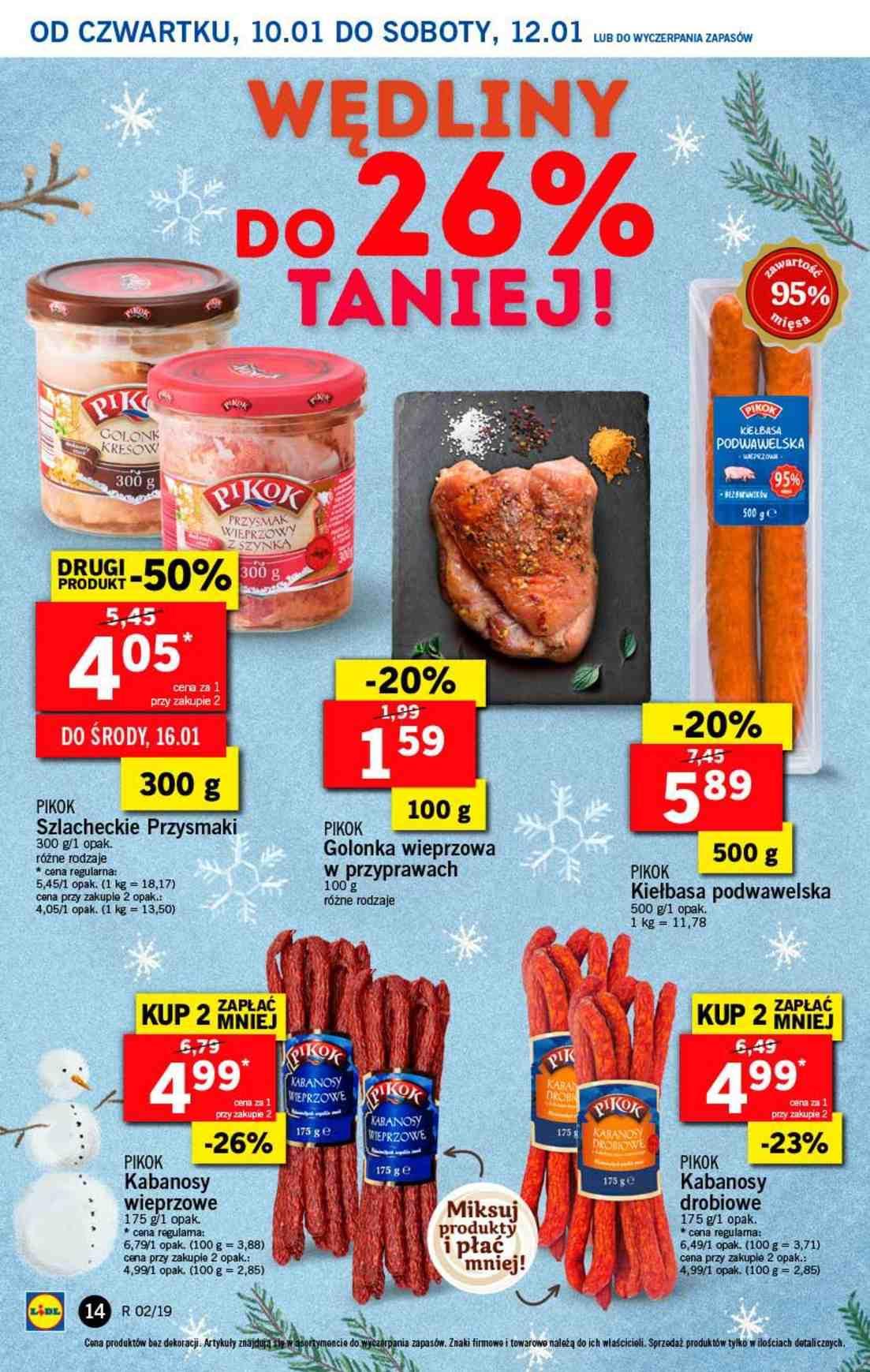 Gazetka promocyjna Lidl do 12/01/2019 str.14