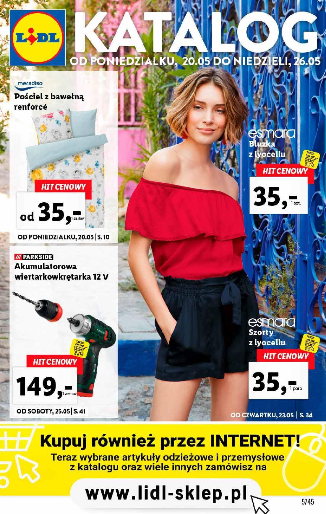 Gazetka promocyjna Lidl do 26/05/2019 str.1