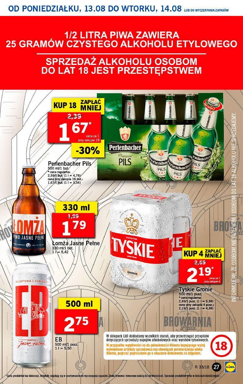 Gazetka promocyjna Lidl do 14/08/2018 str.27
