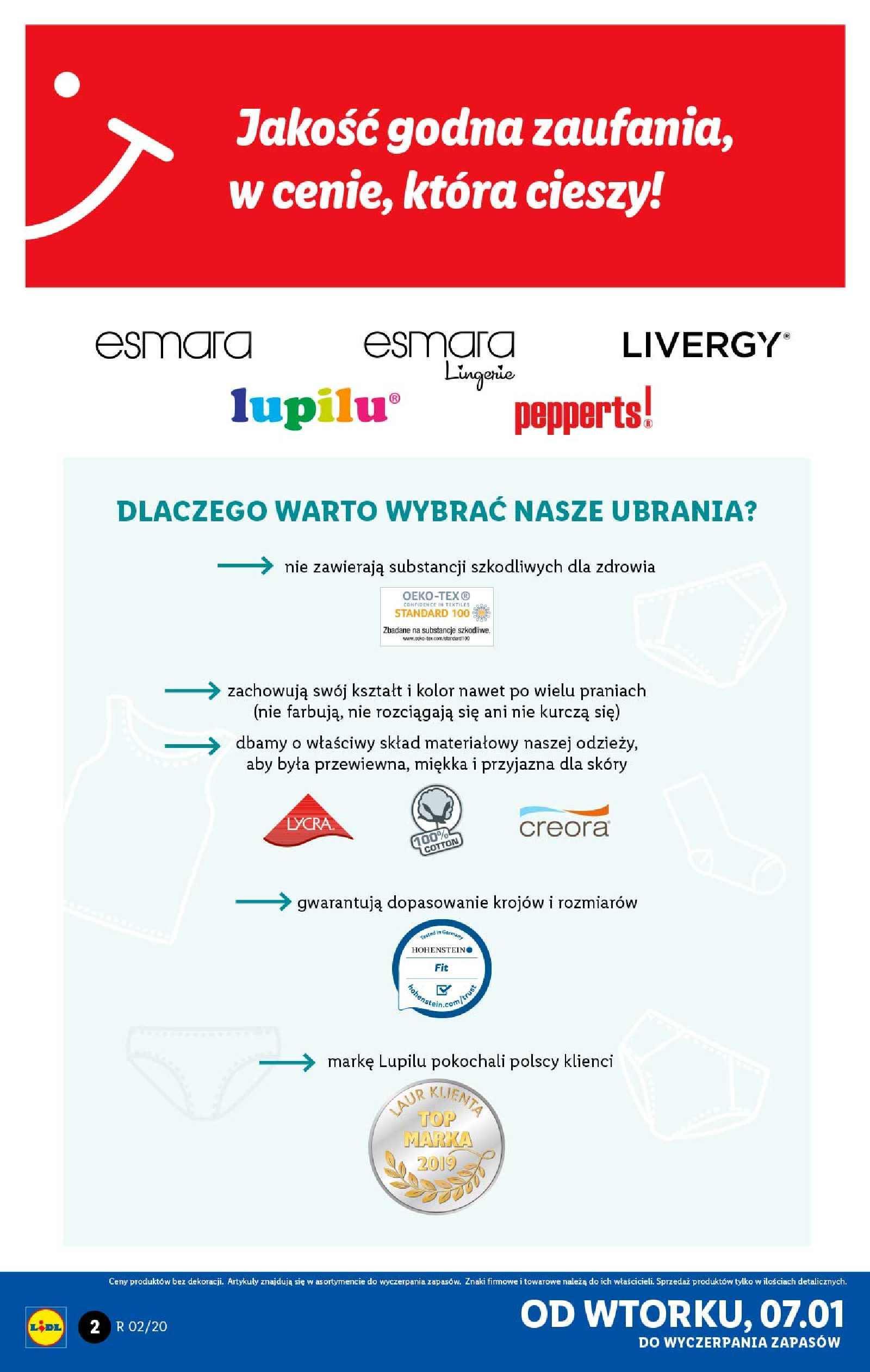 Gazetka promocyjna Lidl do 11/01/2020 str.2
