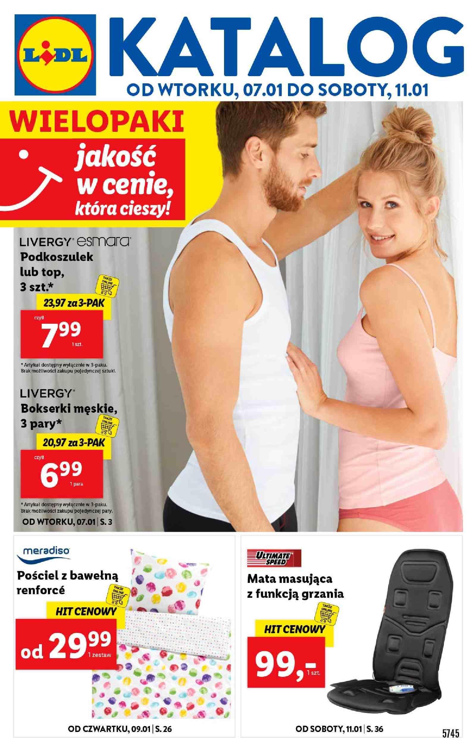 Gazetka promocyjna Lidl do 11/01/2020 str.1