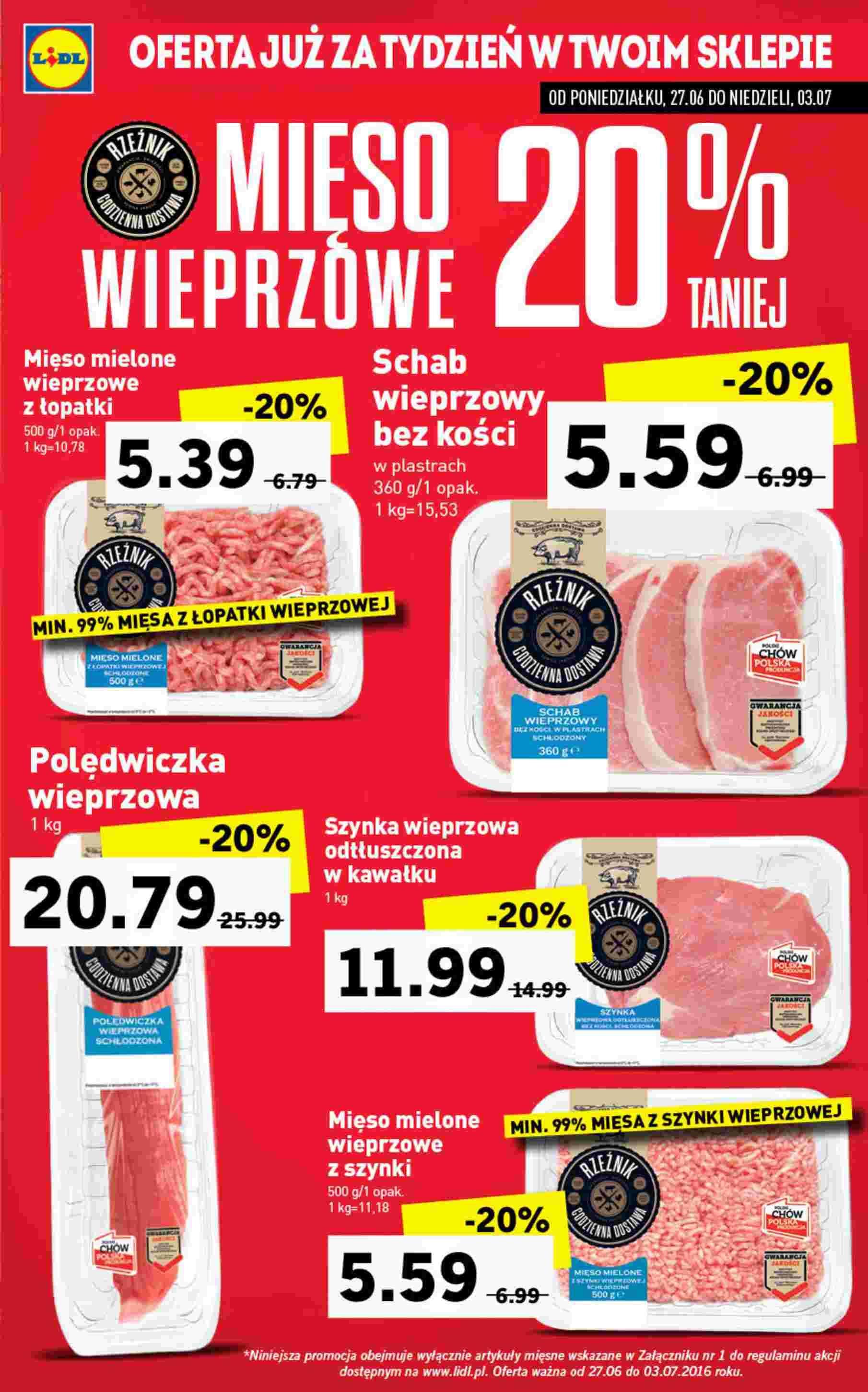 Gazetka Promocyjna I Reklamowa Lidl Lidl Od 2706 Od 27062016