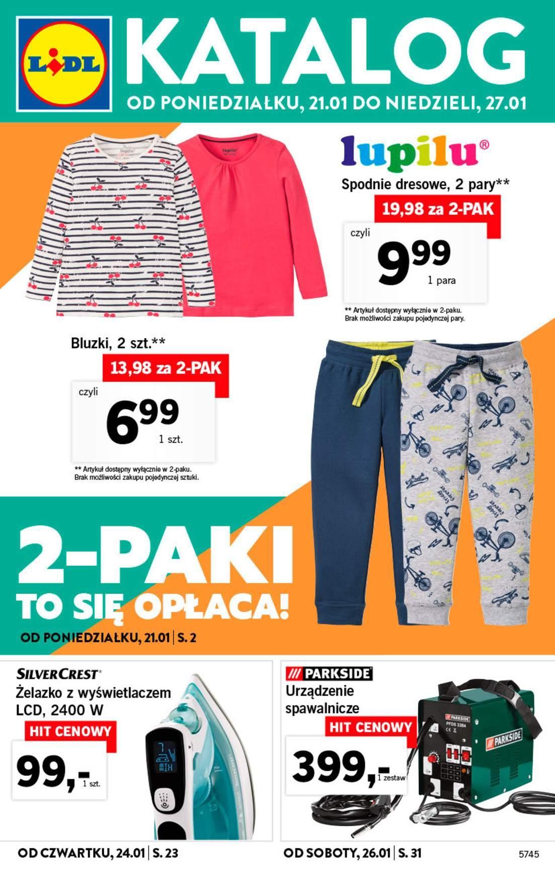 Gazetka promocyjna Lidl do 27/01/2019 str.1
