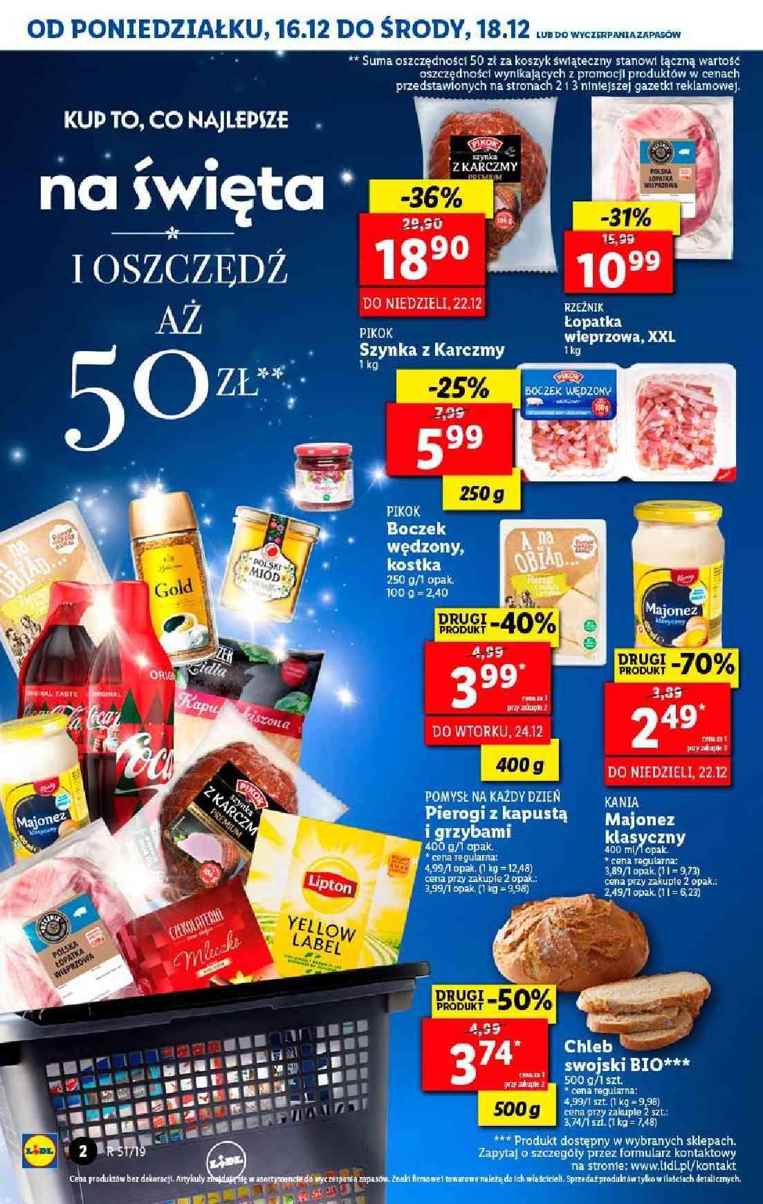 Gazetka promocyjna Lidl do 18/12/2019 str.2