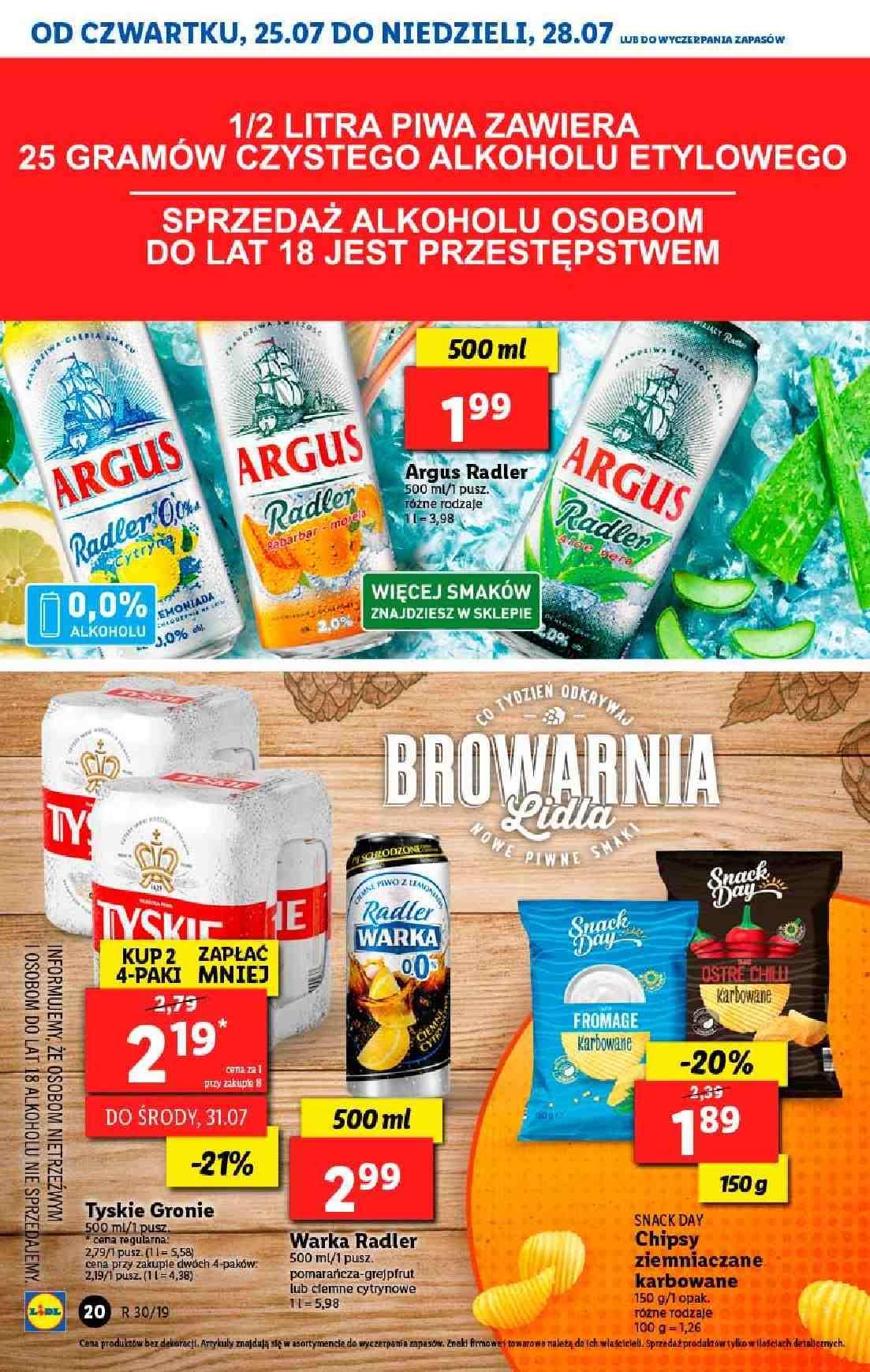 Gazetka promocyjna Lidl do 28/07/2019 str.20