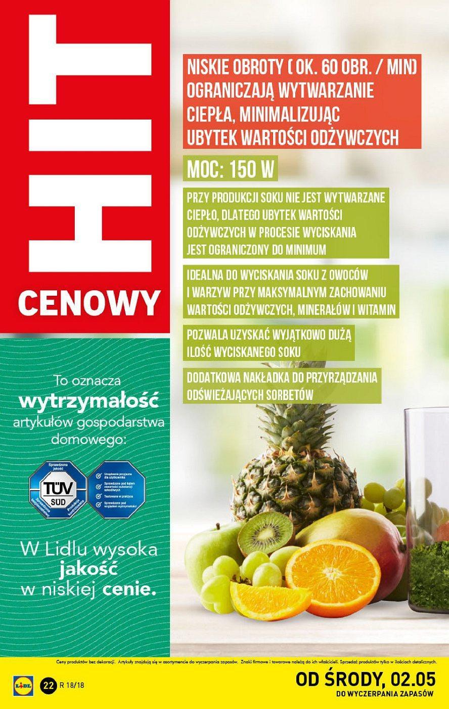 Gazetka promocyjna Lidl do 06/05/2018 str.21