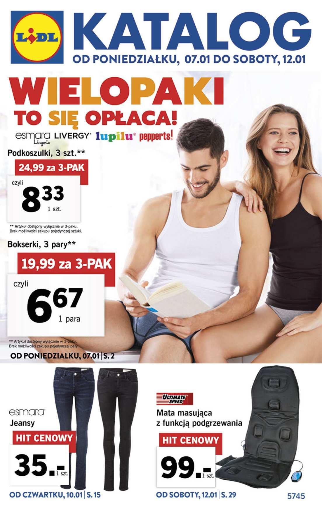 Gazetka promocyjna Lidl do 12/01/2019 str.1