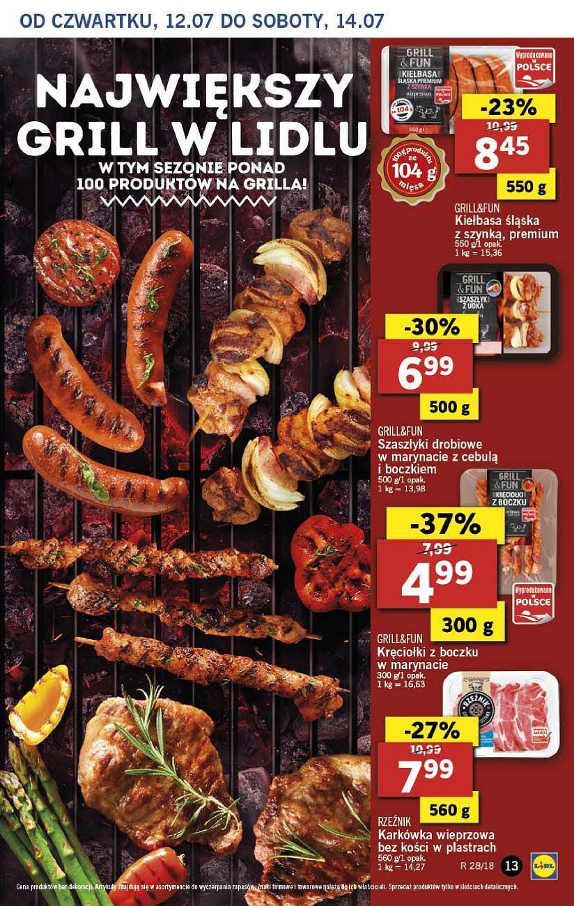 Gazetka promocyjna Lidl do 14/07/2018 str.13